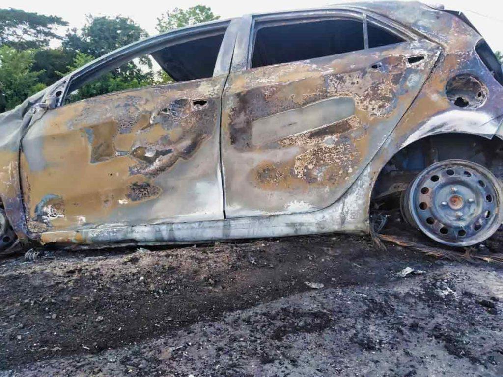 auto accidente quemado cuba