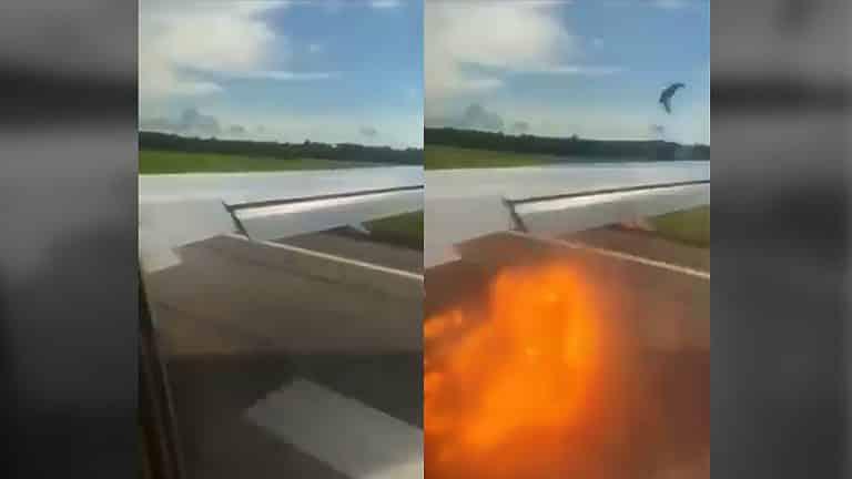 Avión Varadero-Rusia choca con pájaros durante el despegue (+Video)