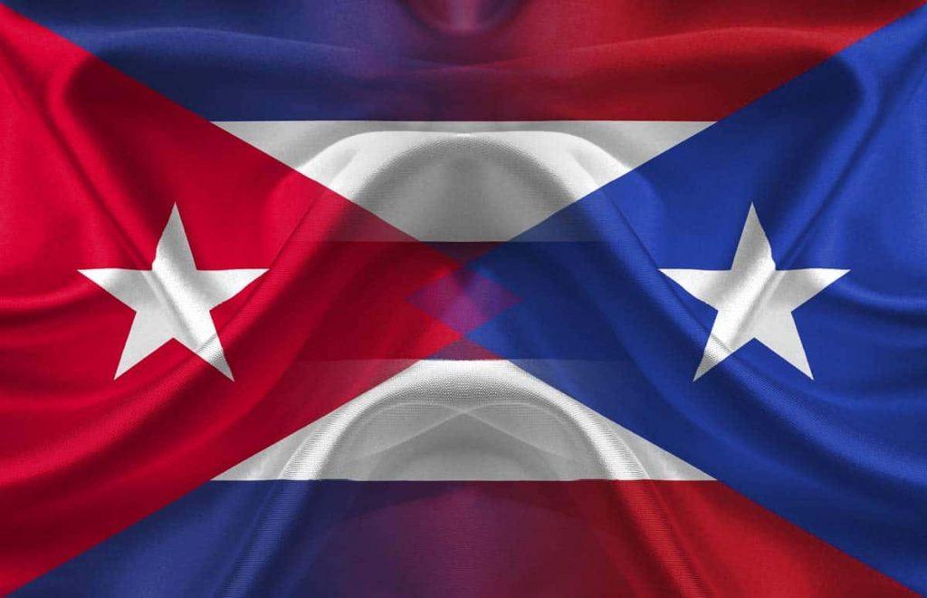 banderas de cuba y puerto rico
