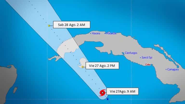 Tormenta tropical Ida golpeará al occidente de Cuba y la Isla de la Juventud