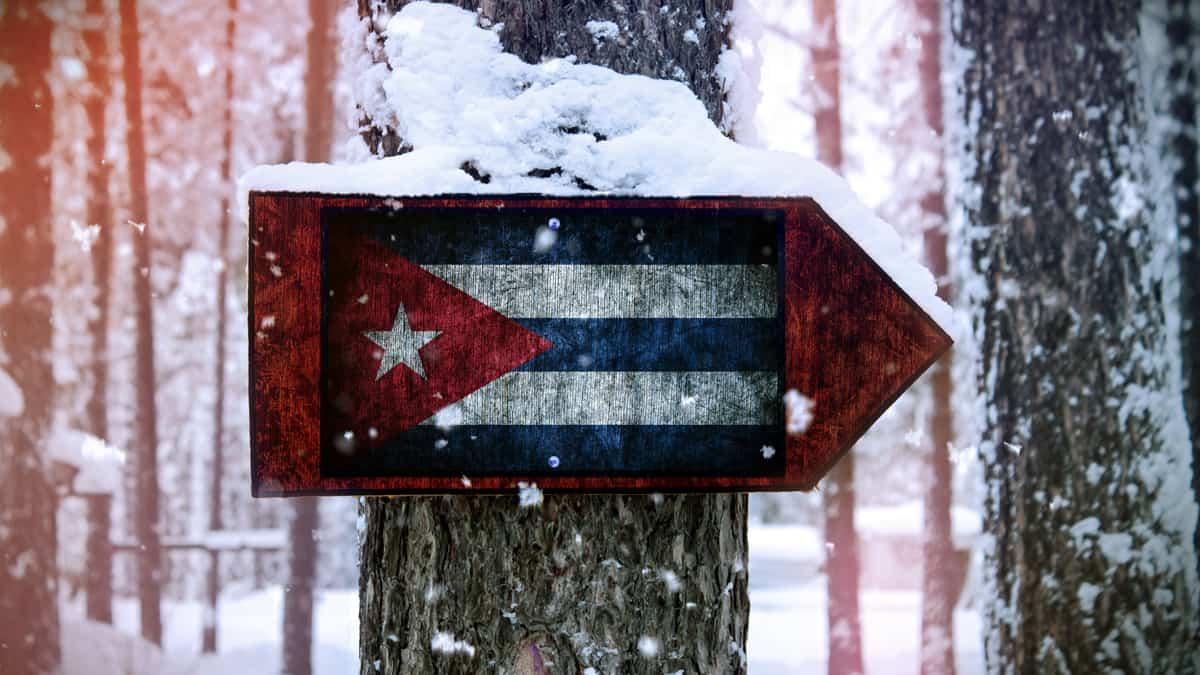 bandera cuba nieve rusia